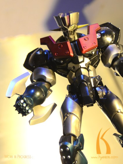 Modern designed Mazinger in aggressive pose by Kyesos