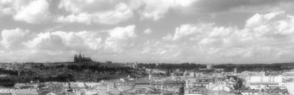 a large panorama of Prague (Praya) town in modern days