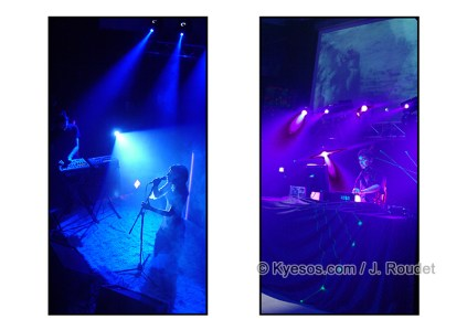 Blue to purple on stage ambiances
