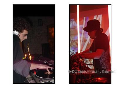 DJs live on stage