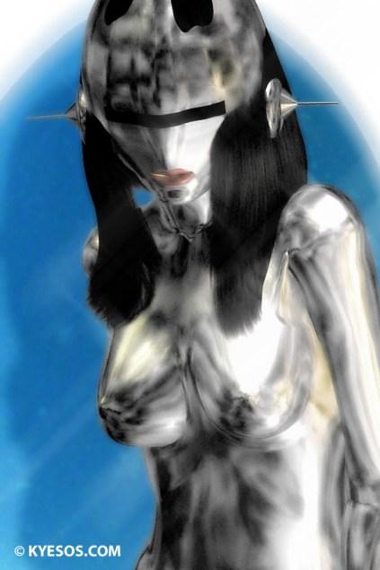 Hajime Sorayama styled illustration of sexy robot by Kyesos