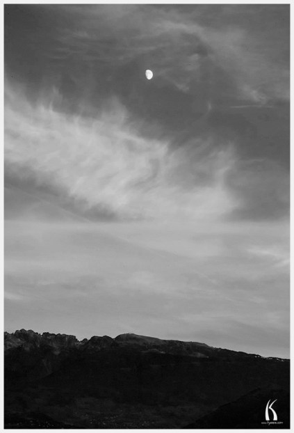 Moon over Chamrousse by Kyesos