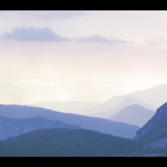 Bichromic view of Bauges mountains in France by Kyesos