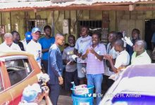 Photo of Kwesimintsim: NPP Parliamentary candidate donates items to constituents to fight Covid-19