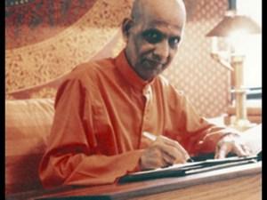 Bapuji at Writing Desk