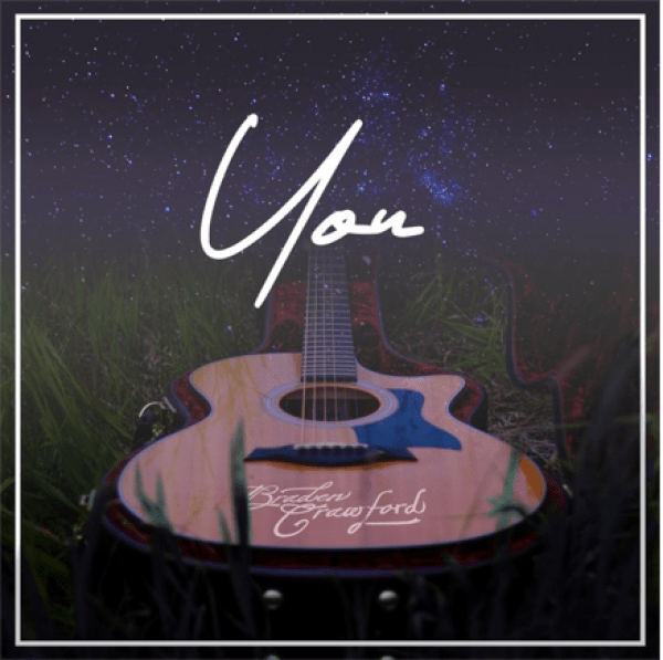"""Official cover art for Braden Crawford's single, """"You""""."""