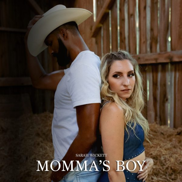 """Featured: Official cover art for Sarah Wickett's latest """"Desi pop-country"""" single, """"Momma's Boy."""""""