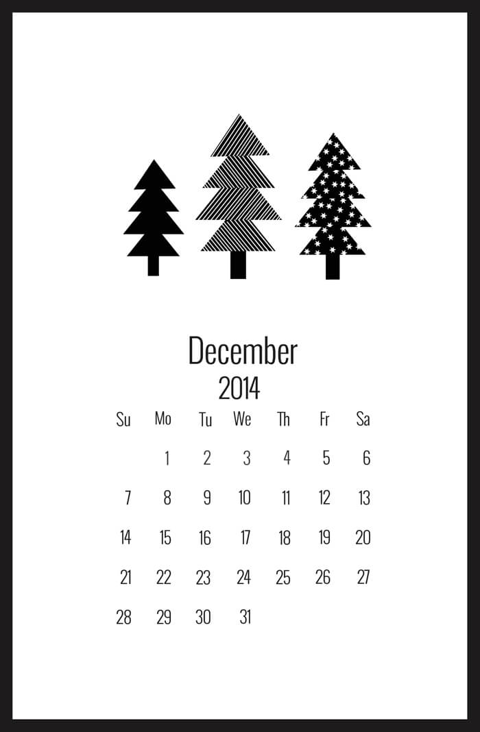 Beautiful, Free and Printable! 2015 Desk Calendars & Planners