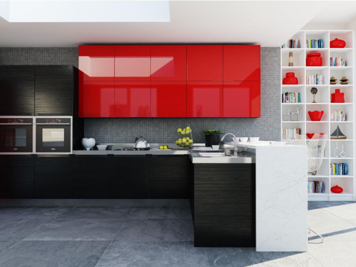 Cocina Rojo Ferrari  Kyledesign