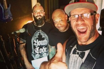 Adam, Jesse and Howard from Killswitch Engage
