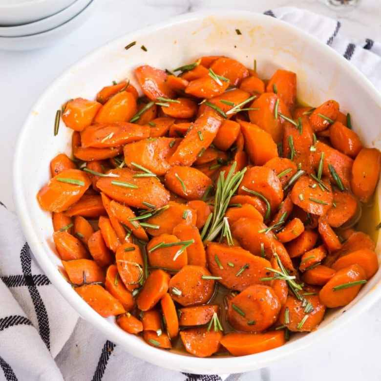 Rosemary Glazed Carrots Recipe (with Brown Sugar) | Kylee Cooks