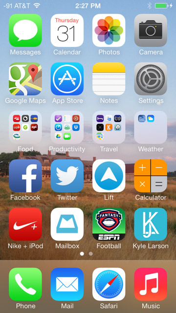 ios icon homescreen
