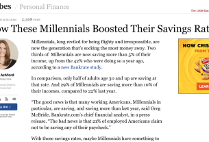 Forbes Quotes Kyle McMahon on Millennial Savings Habits