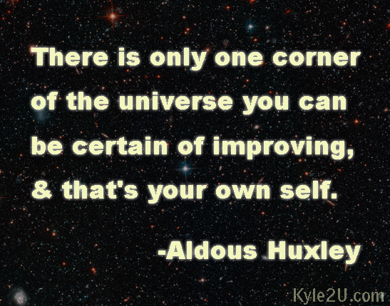 Huxley U201cImprove Yourselfu201d Inspirational Quote Card