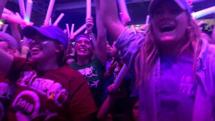 6,000 University of Delaware students attended UDance 2018 a 12 hour dance marathon raising money for kids with cancer.