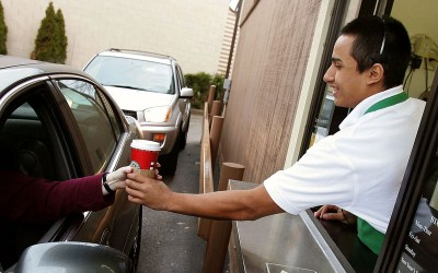 pay for the person behind you as a random act of kindness