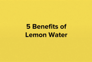 5 Health Benefits of Lemon Water