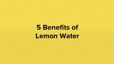 5 Health Benefits of Lemon Water