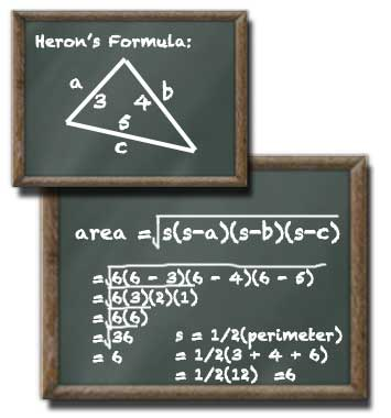 Hero's Triangle Formula