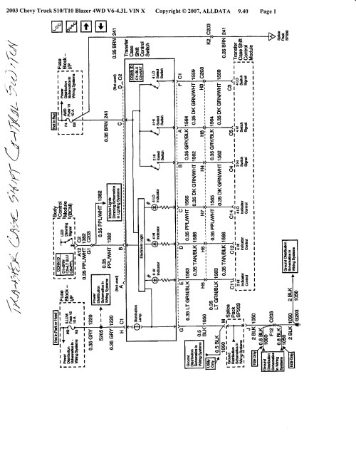 small resolution of transfer case wiring diagram for 2001 chevy blazer wiring diagram 1994 s10 transfer case wiring diagram