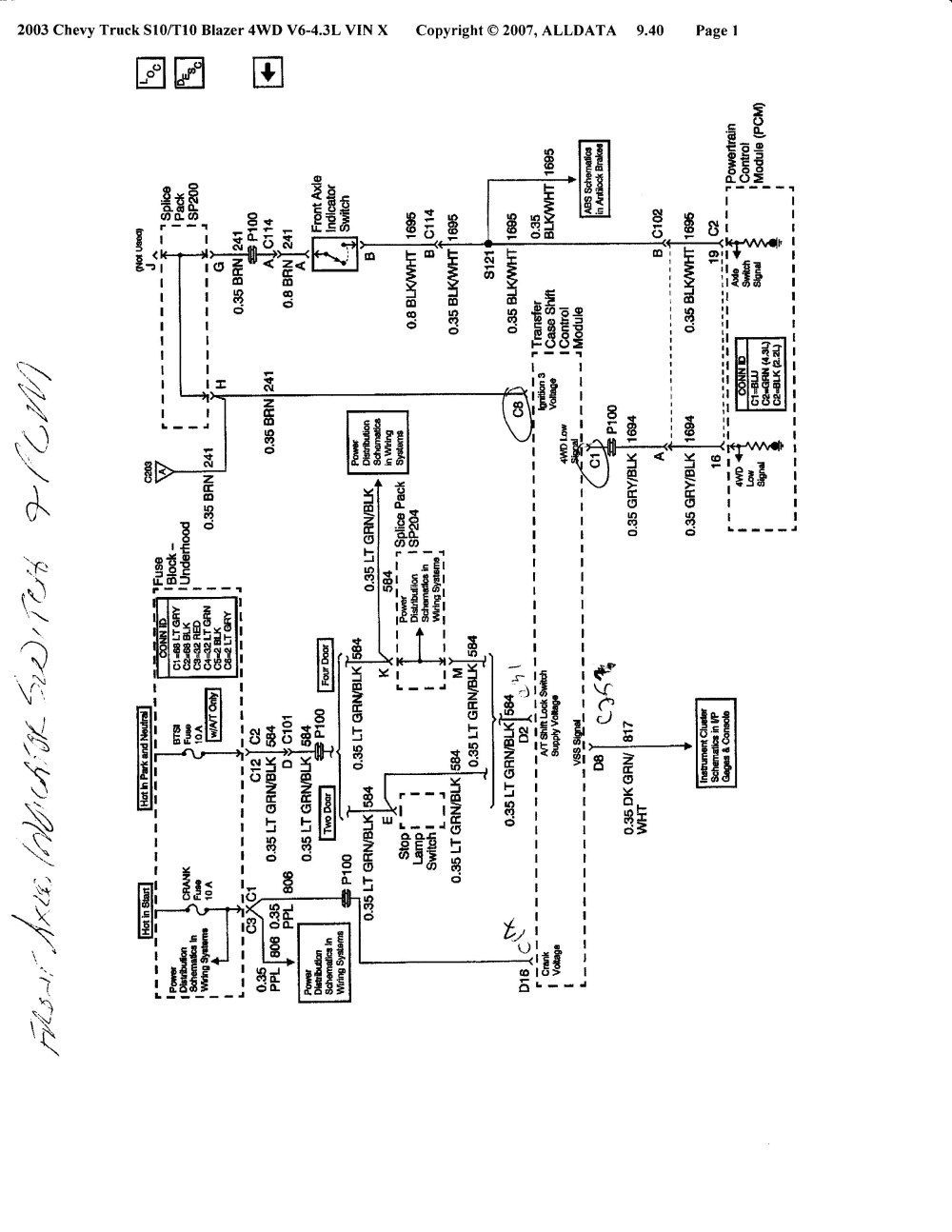 medium resolution of chevy s10 4wd wiring diagram