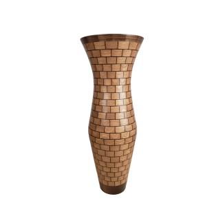 Segmented Sapele & Walnut Vase