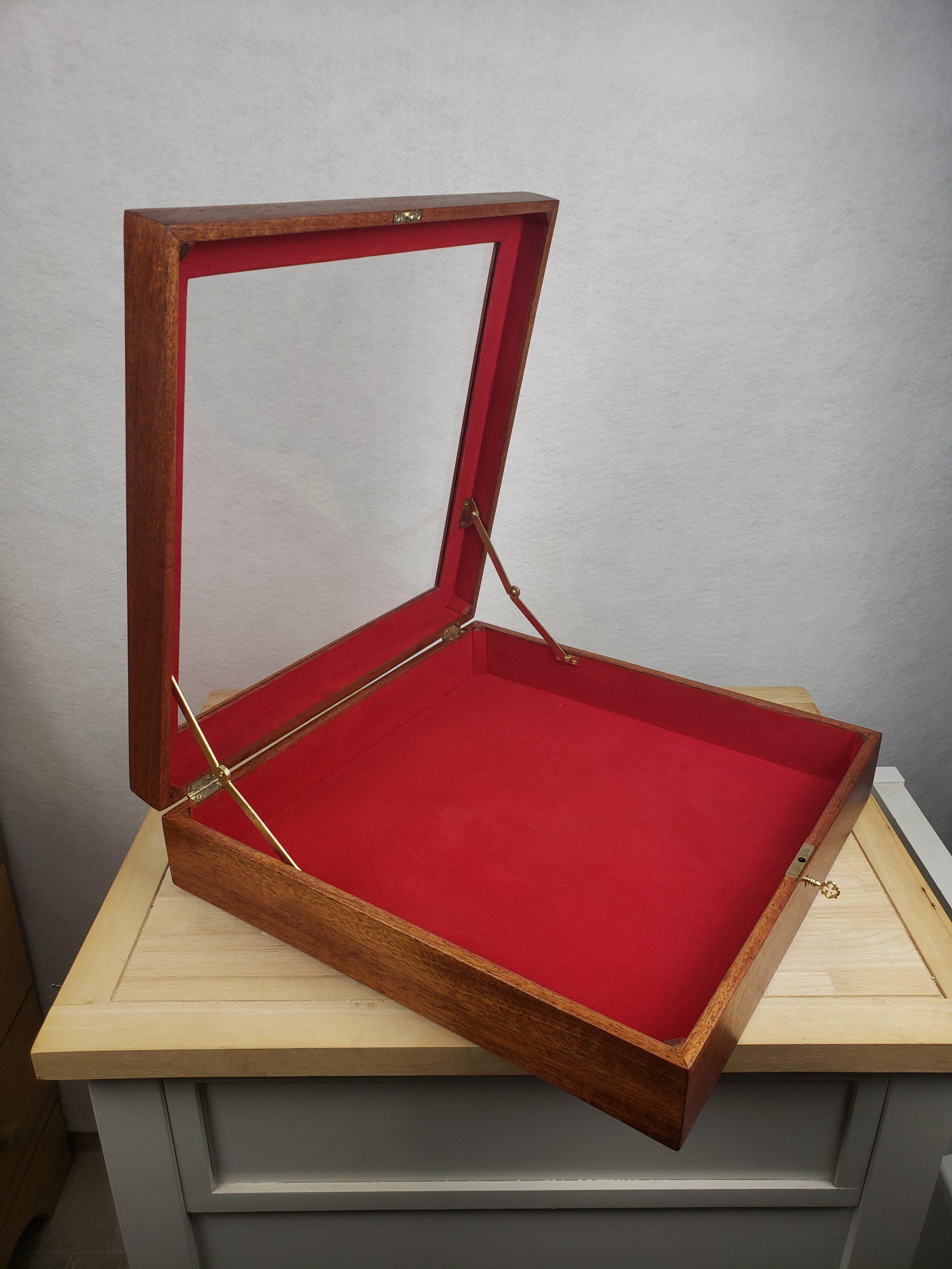 Mahogany Shadow Box Display Case