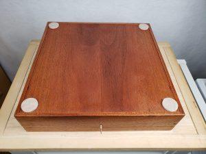 Mahogany Shadow Box, full view of bottom