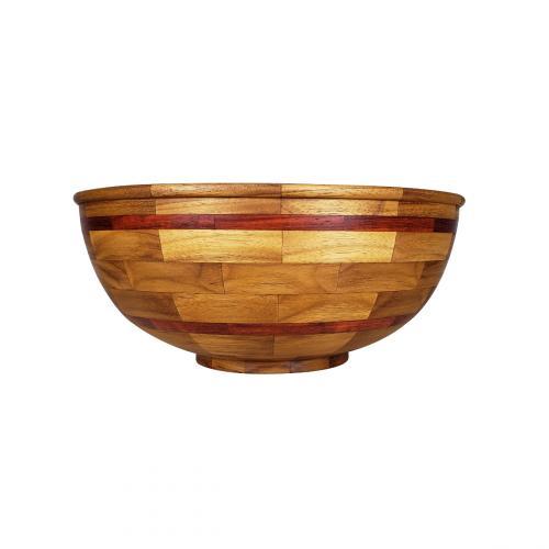 Segmented Teak Bowl with Padauk Accent