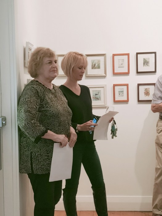 Helen Musa - Arts Editor Canberra Citynews opens the Art in Miniature Group Exhibition