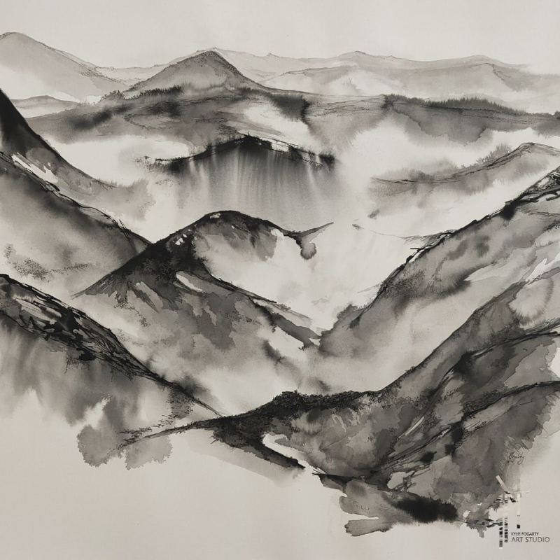 Mist on the Mountains, Archival Pigmented Ink on 300gsm Fine Art Paper, 2020.jpg