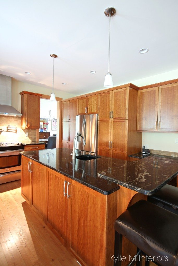 cherry wood kitchen island subway tile backsplash a beautiful and granite design