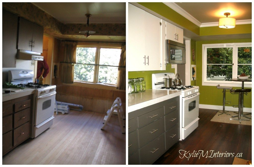 Budget Kitchen Remodel With Painted Lower And Upper