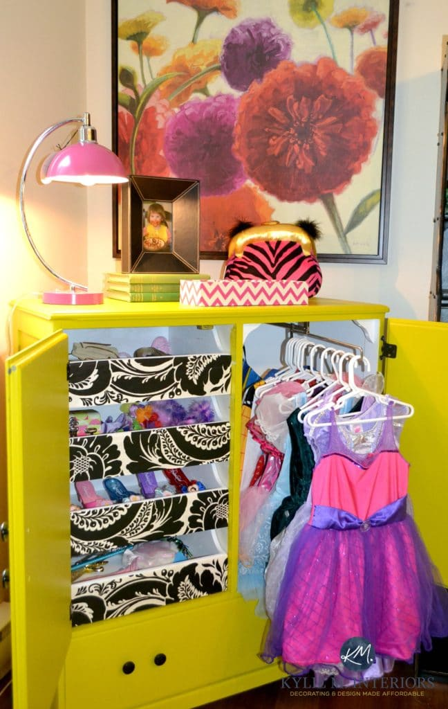 Kids Dress Up Cabinet Or Armoire For Clothes Painted