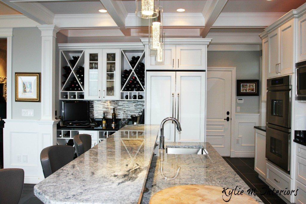 white appliances kitchen built in wine racks for cabinets ideas decorating with painted station and fridge doors on the front