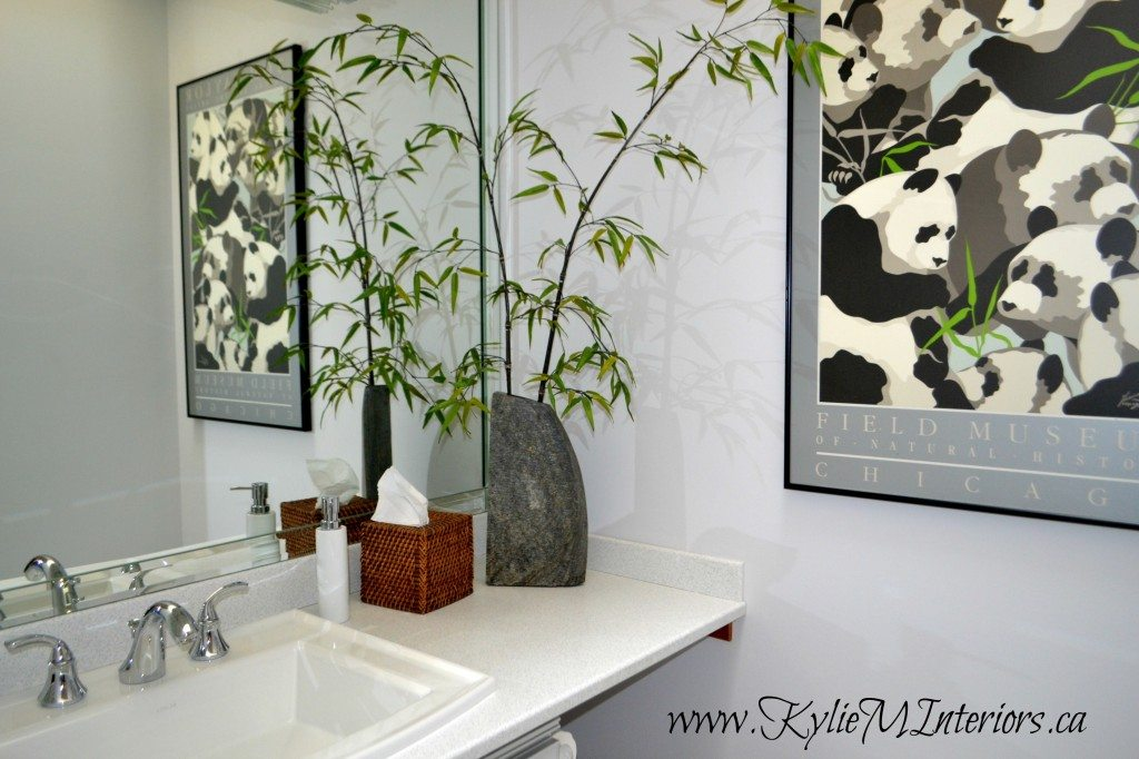 Bathroom Painted Gray Owl By Benjamin Moore With White