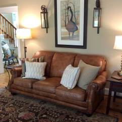 Interior Designs For Living Room With Brown Furniture Divider Ikea Lenox Tan Benjamin Moore In Farmhouse Warm Leather Couch And Area Rug Kylie M Interiors E Design Colour Consulting