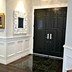 Feature Wall Paint Ideas For Living Room Outdoor Rooms Pictures Interior Front Doors Painted Black, Double, Marble Floor ...