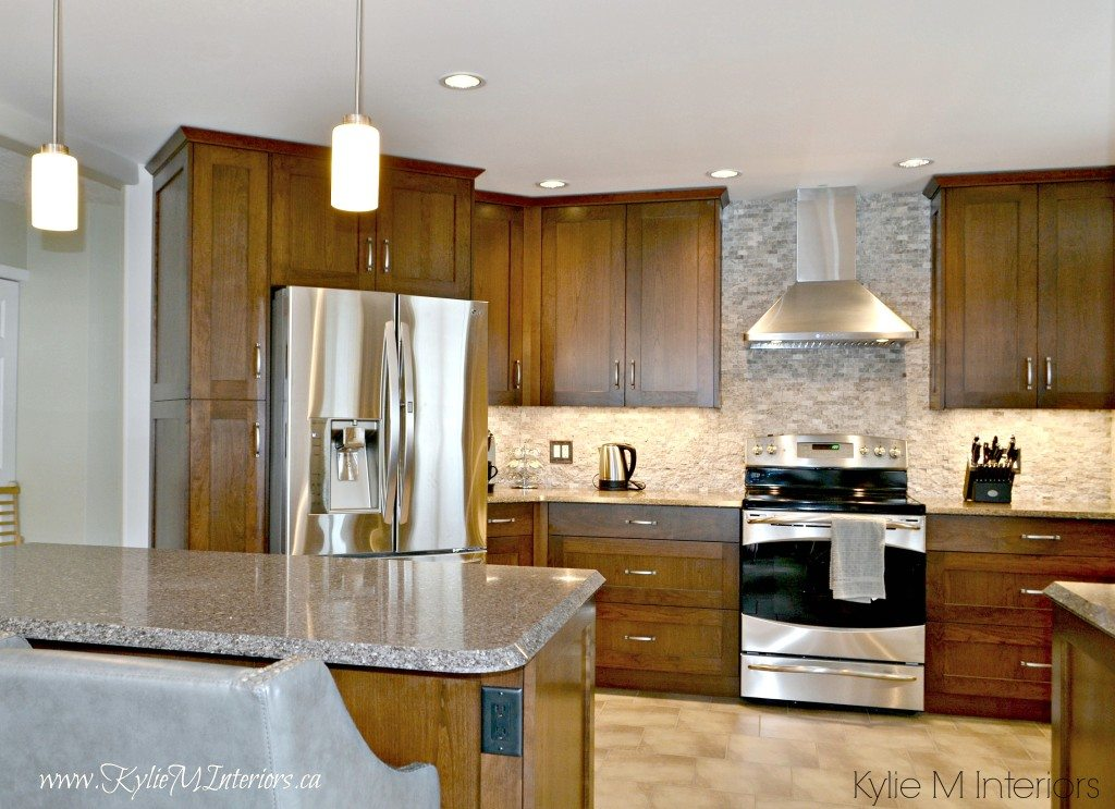 virtual kitchen makeover wood table sets oak remodel. cabinets, quartz countertops and ...