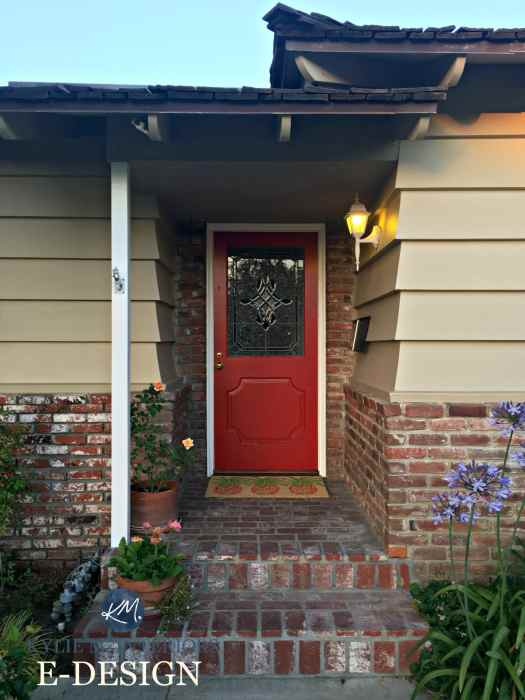 Exterior Front Door Paint Colour Consultation With Kylie M Interiors E Design And Online Color Consulting Sherwin Williams Chinese Red Orange