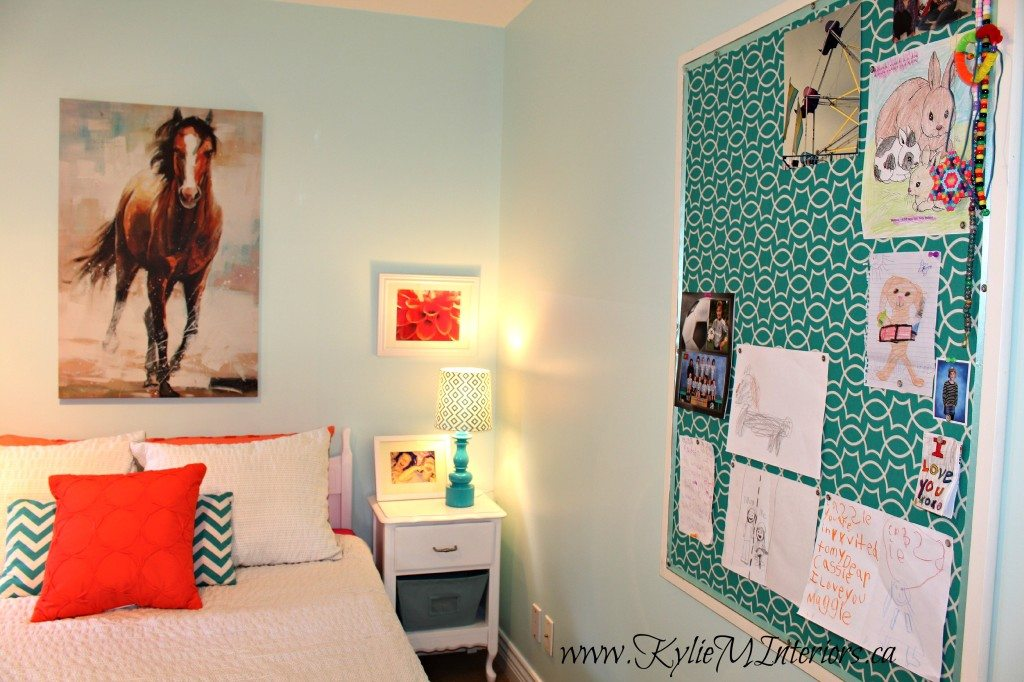 Budget Friendly Girls Bedroom Ideas  Light Blue Coral Pink