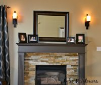 the right height to hang wall sconces beside a fireplace ...