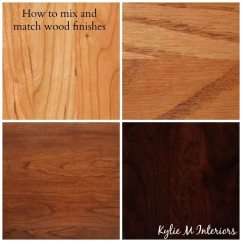 Kitchen Cabinets On Line Tile Flooring For How To Mix And Match Wood Stains Like Cherry, Oak, Maple ...