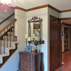 Paint Colors For Living Room With Dark Wood Trim Best 2016 Color Oak Floor Kylie M Interiors E Design Benjamin Moore Revere Pewter In Entryway And Stairs