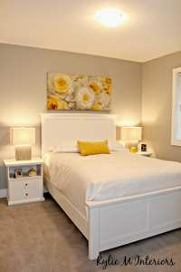 home staging ideas for the bedroom with yellow accents and ...