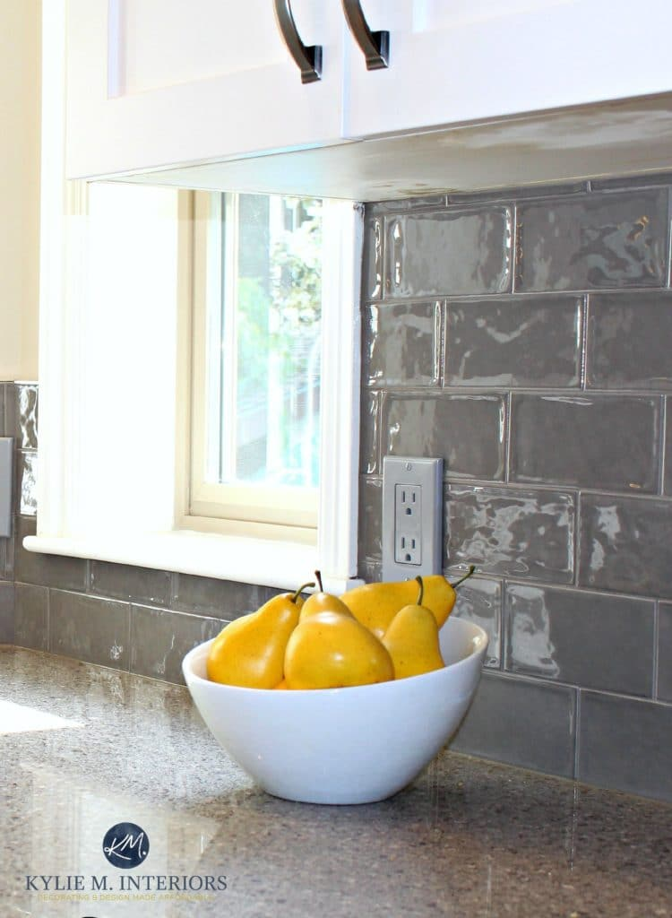 subway tile for kitchen heavy duty chairs how to choose the right backsplash ideas and more glazed shiny gray in remodel with quartz countertops white painted cabinets by
