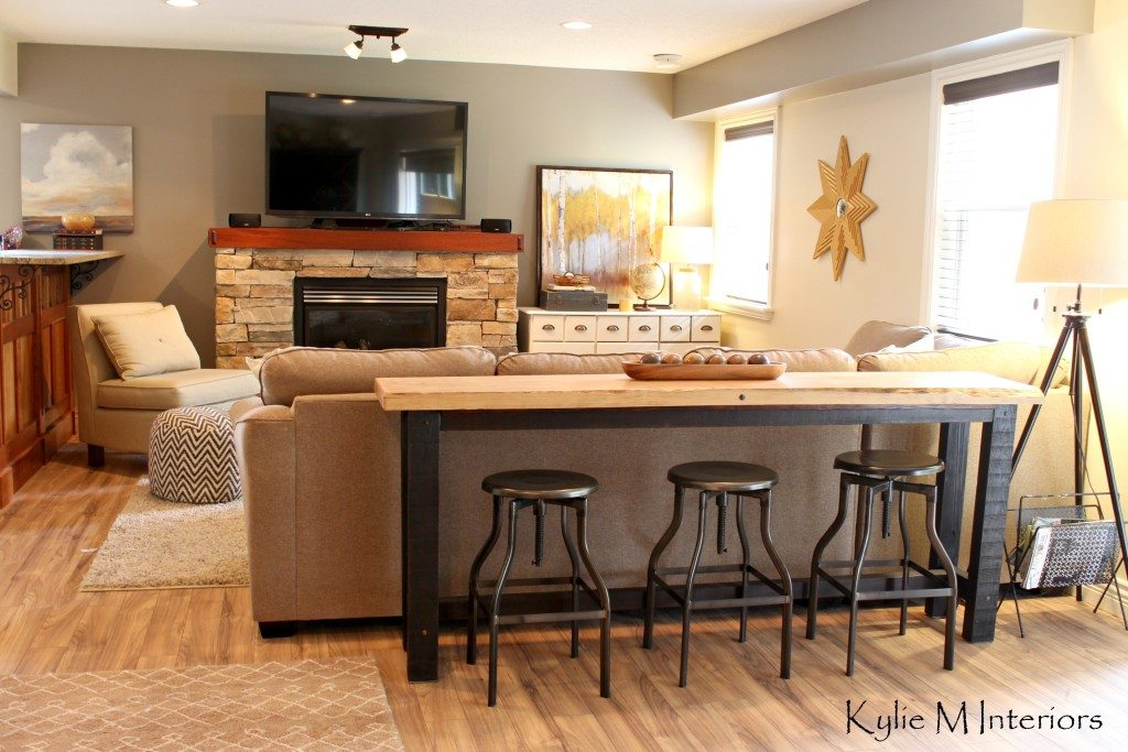 guy man decorating ideas with live edge bar table and