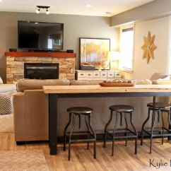 How To Decorate My Narrow Living Room Zebra Set Guy Man Decorating Ideas With Live Edge Bar Table And ...
