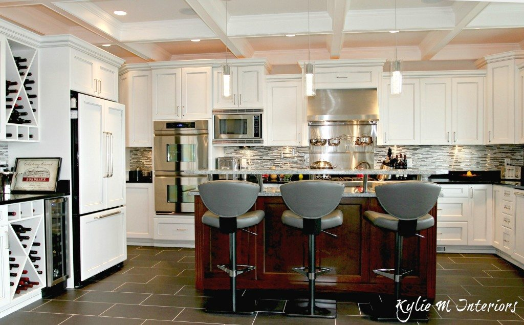 best recessed lighting for living room chocolate and turquoise u shaped kitchen with island raised bar top. coffered ...