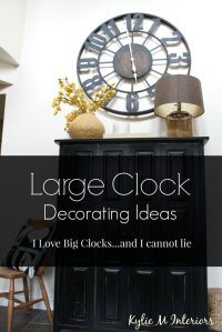 How to Decorate with Large Clocks (and my favourite ...